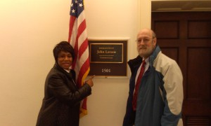 Gillian from CT and Mark from ME, outside of Gillian's Representative's office