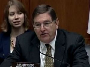 Congressman Michael C. Burgess asks questions at the hearing.