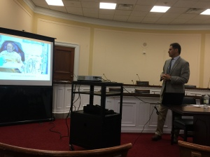 NKF's Chief Medical Officer speaks at a briefing with Congressional staff members on Capitol Hill