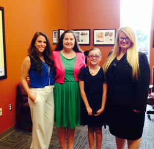 Liaison Jill Ziegler and daughter Madeline (middle) met with Senator Cotton's staff - Arkansas