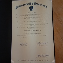 Proclamation in MA