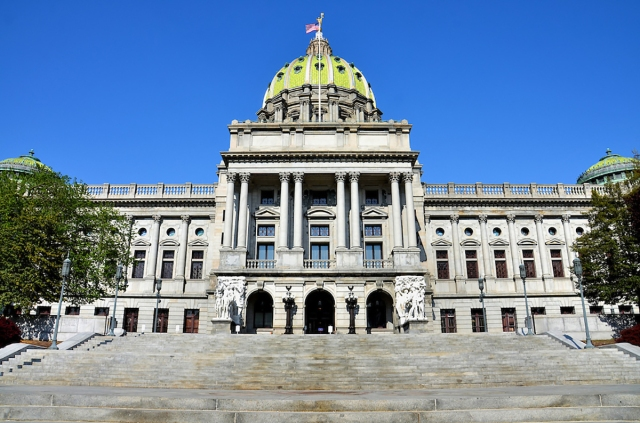 Pennsylvania State Capitol Building in Harrisburg, Pennsylvania
